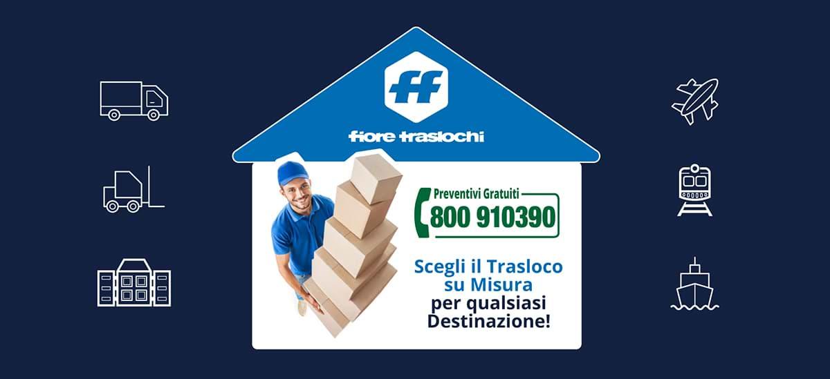 Traslochi, Trasporti e Deposito | Fiore Traslochi, Bari-Puglia
