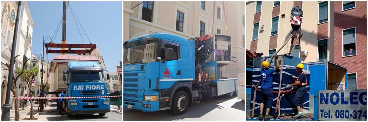 Movimentazioni Speciali e Logistica | Fiore Traslochi, Bari-Puglia